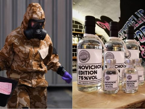 The novichok vodka.