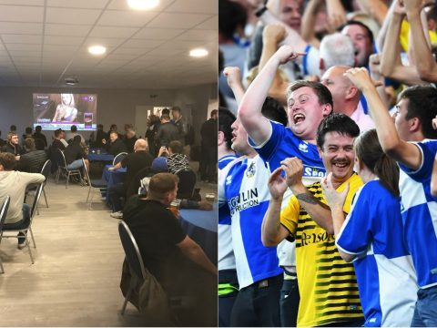 Bristol Rovers and Babestation.