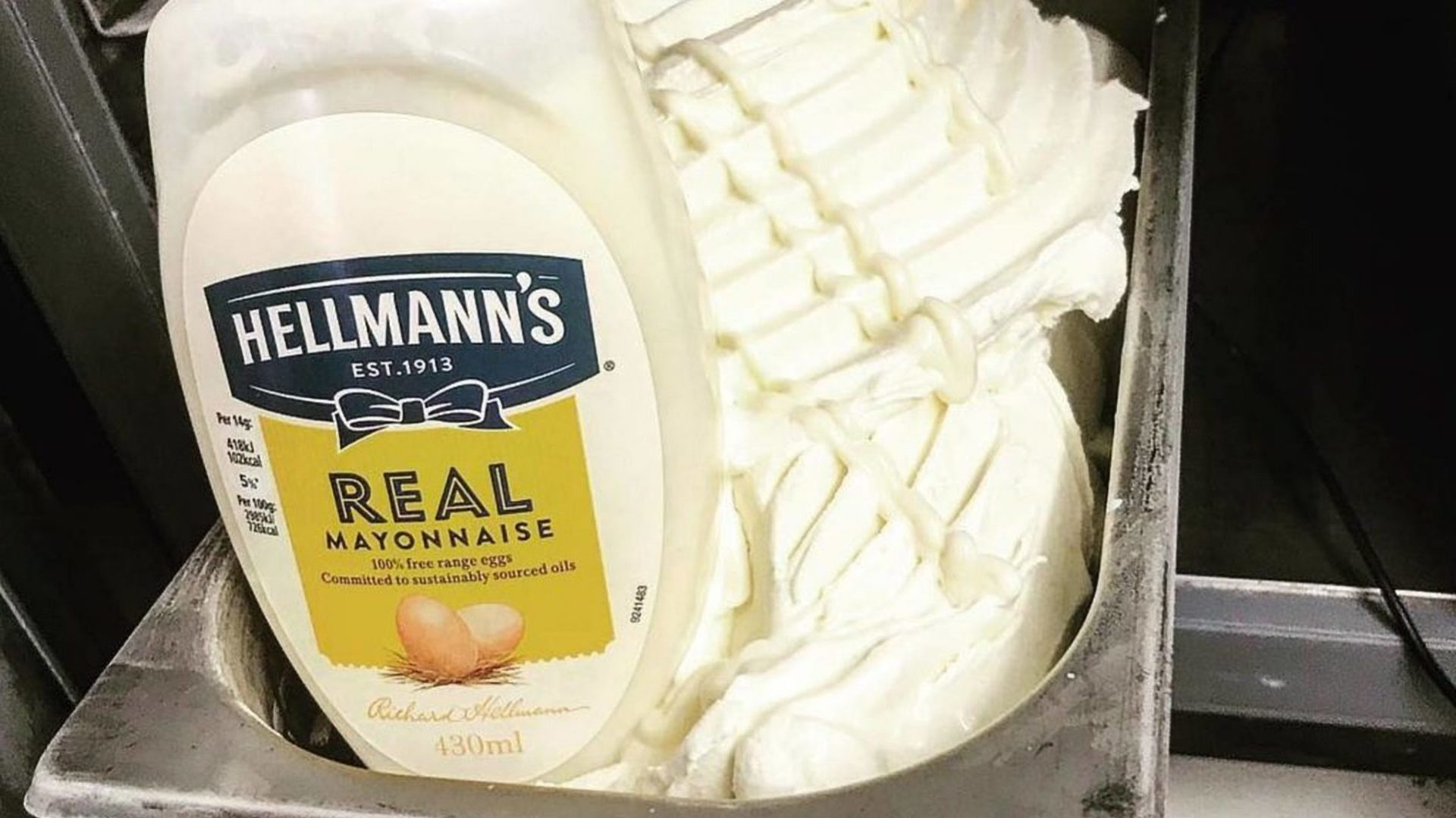The Hellmann's Mayonnaise ice cream.