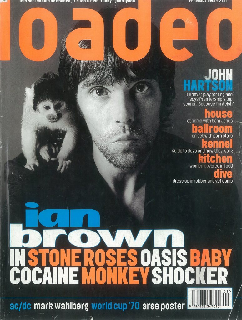 Ian Brown brought his monkey to his Loaded cover shoot