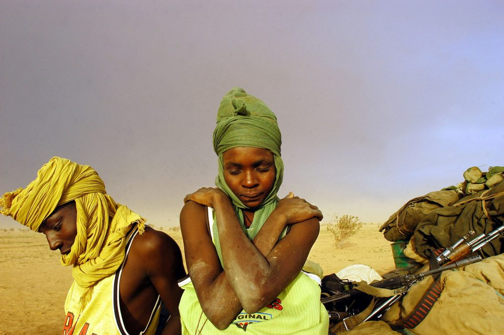 Sudanese soldiers stranded in the desert