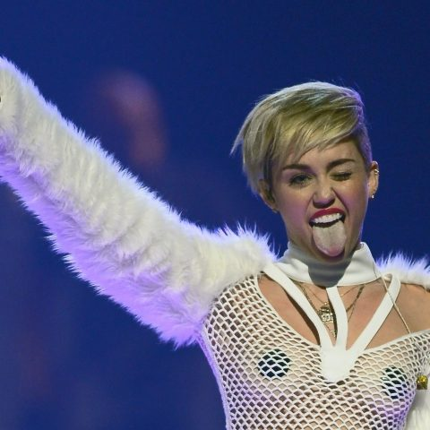 Miley Cyrus at the 2013 iHeartRadio Music Festival in Las Vegas