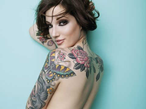 Christian Saint's devilish-looking tattooed models
