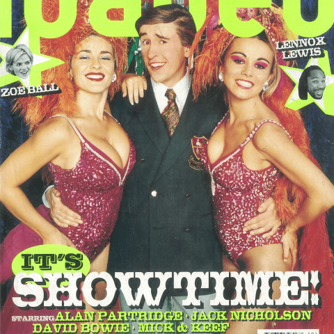 Alan Partridge as Loaded's cover star