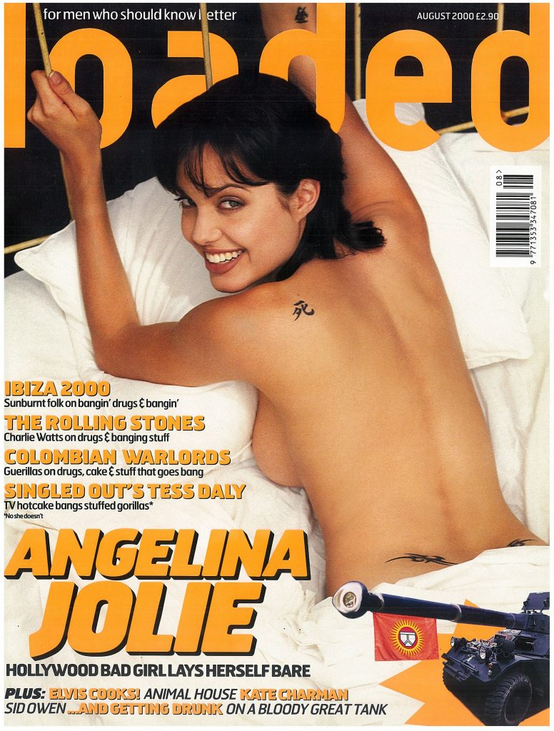 Angelina Jolie laid bare on the cover of Loaded