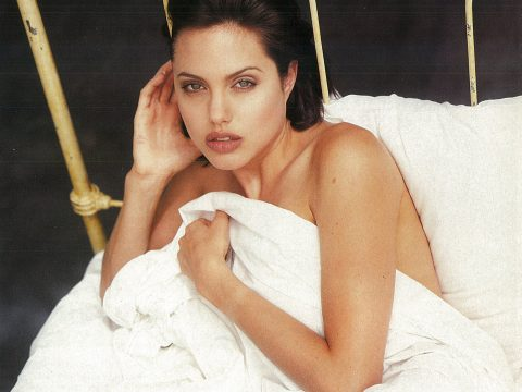 Angelina Jolie stripped for her cover shoot with Loaded magazine