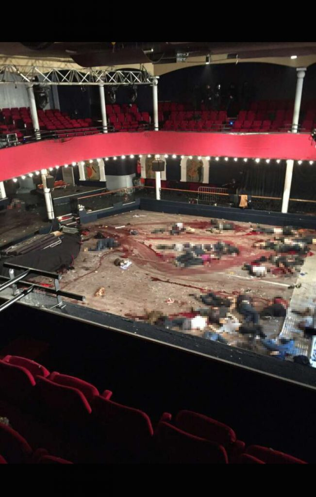 The Bataclan theatre of terror in Paris targeted by Isis
