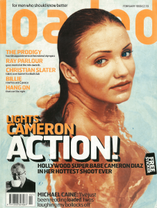 Cameron Diaz Loaded magazine cover classic carousel