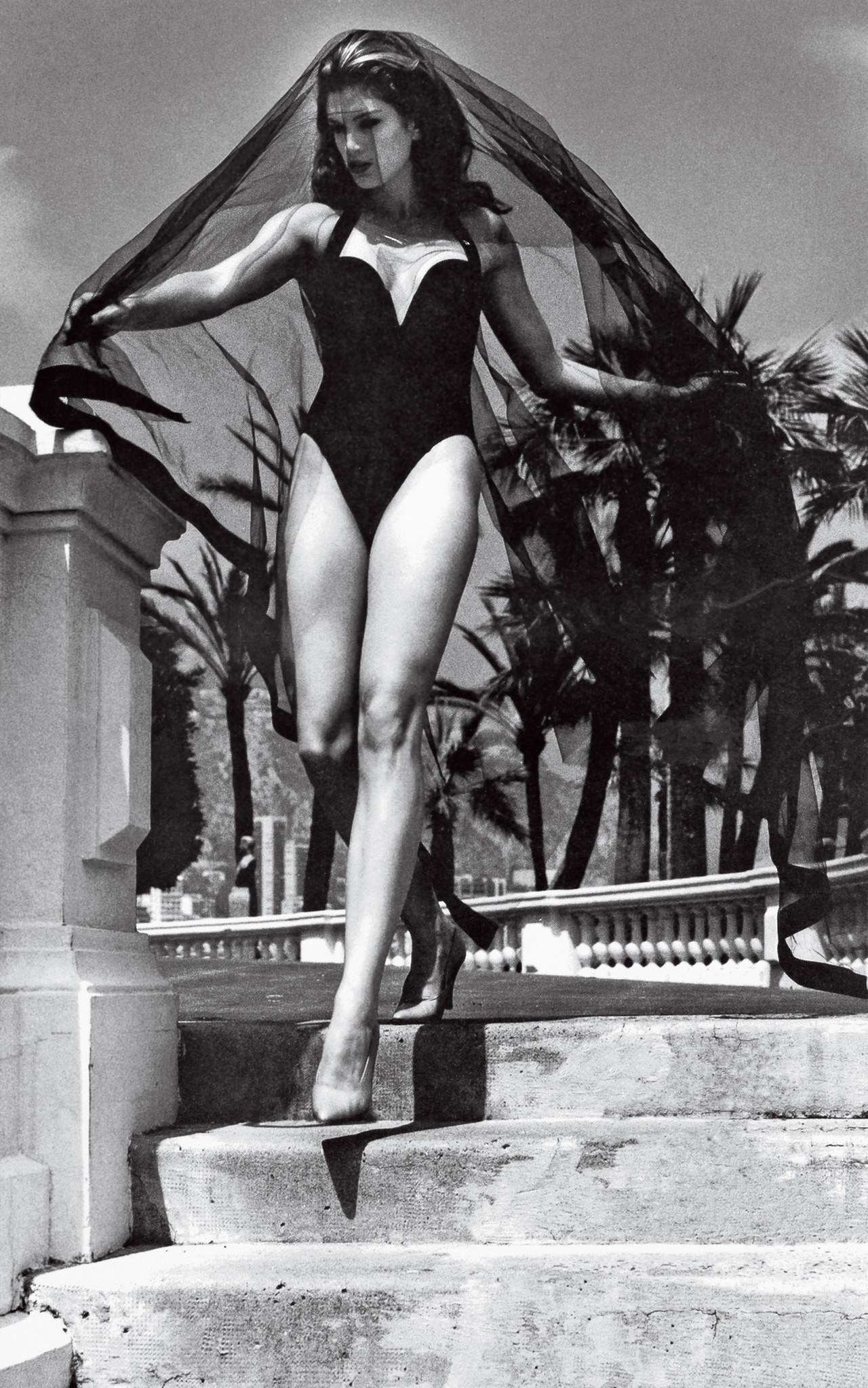 Cindy Crawford, who married Richard Gere, in a 1991 Helmut Newton portrait