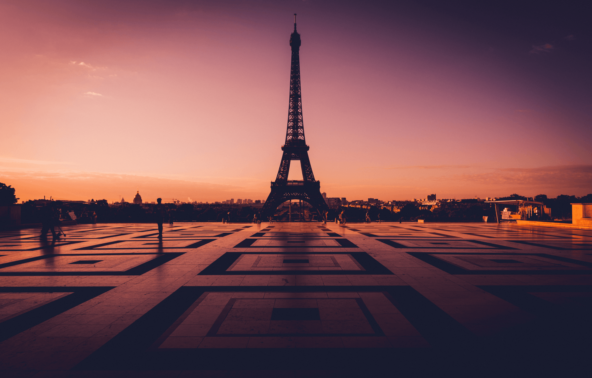 The beacon of hope that is the Eiffel Tower at sunrise