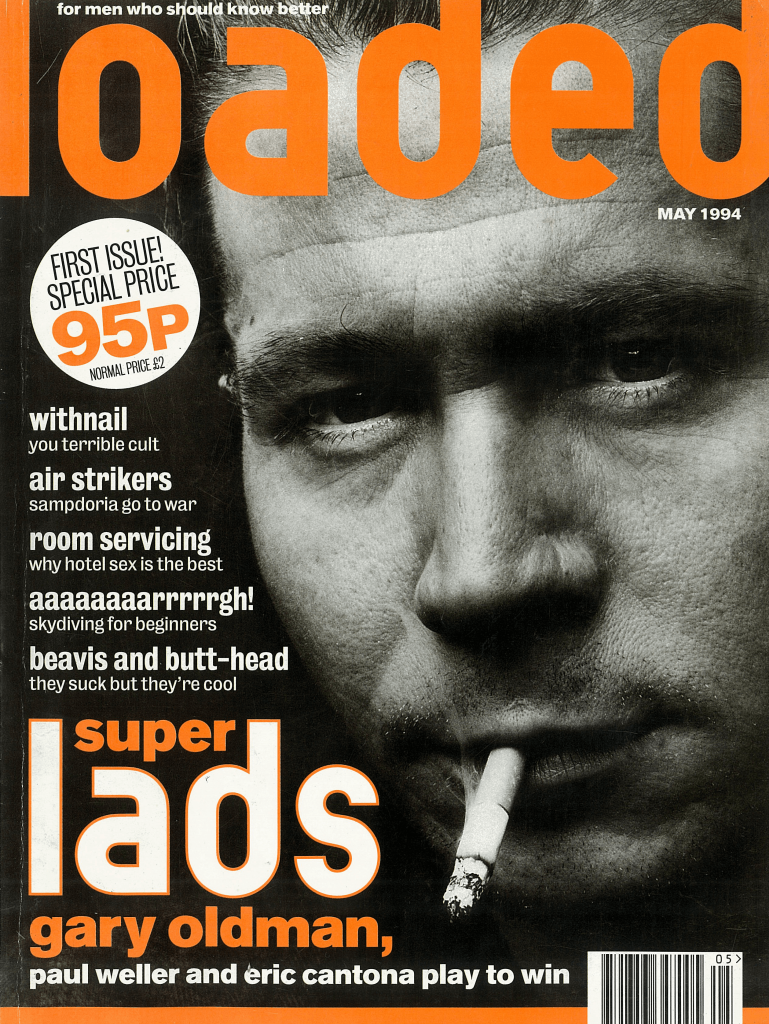 Gary Oldman on Loaded magazine's first cover in May 1994