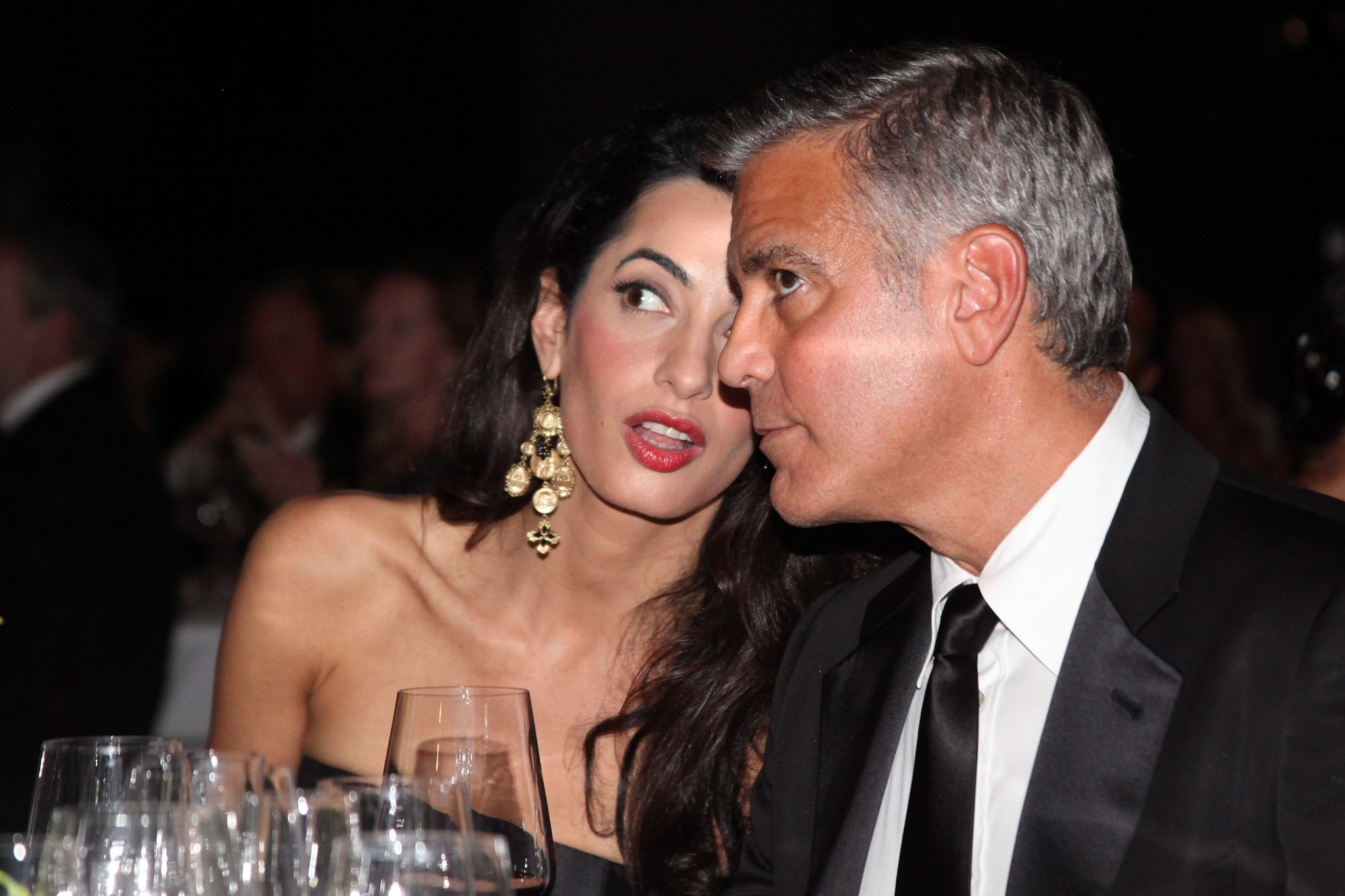 George Clooney out with wife Amal Alamuddin
