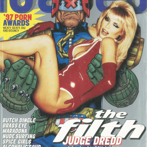 Judge Dredd was the April 1997 Loaded cover star