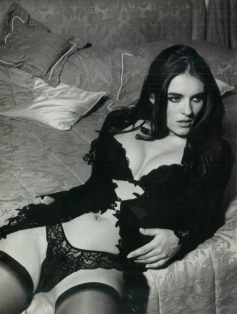 Liz Hurley posed for Loaded's first issue to talk about Hugh Grant and sex scenes