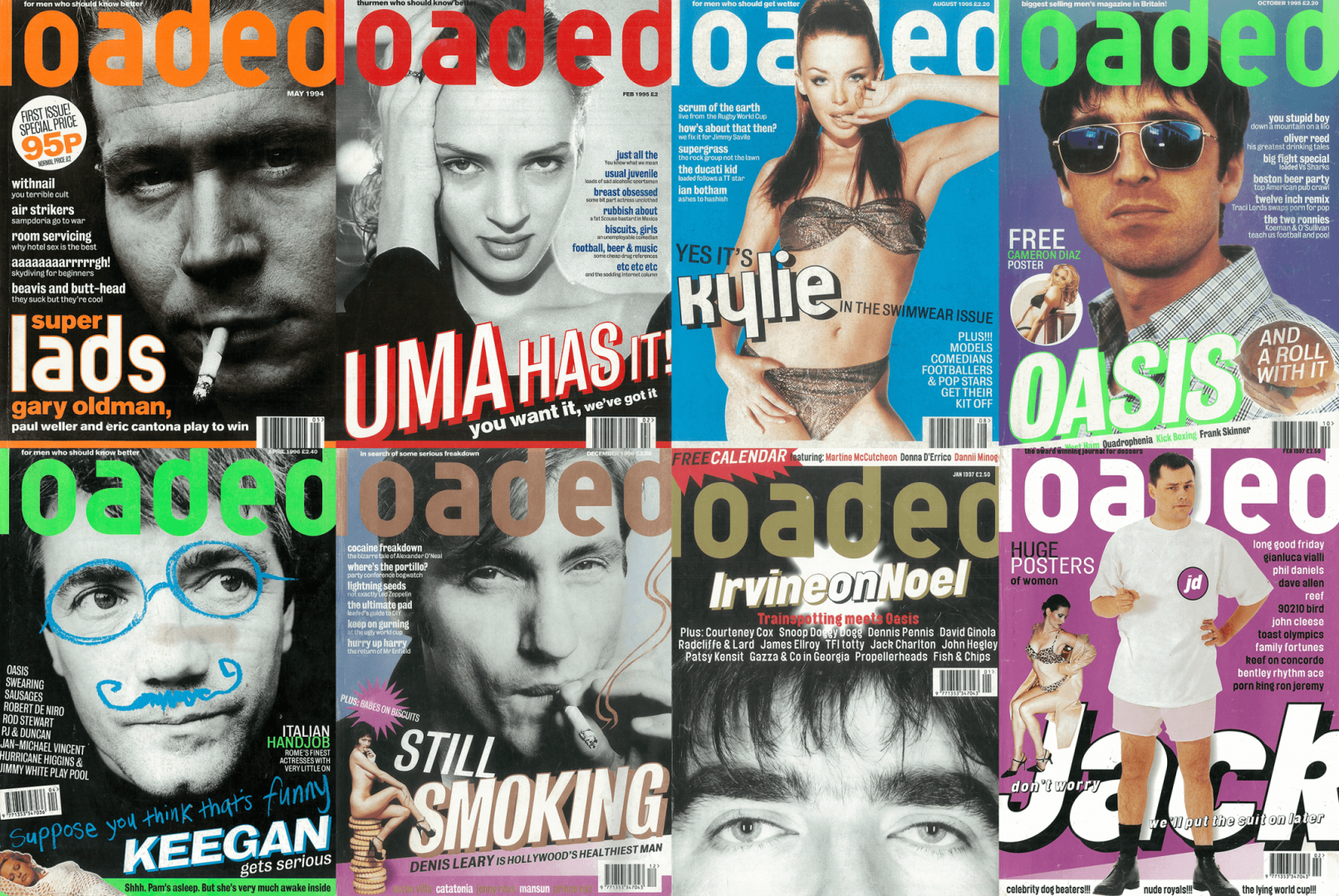 Loaded magazine's greatest covers included Gary Oldman and trousers Jack Dee