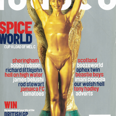 Mel C painted gold for Loaded's World Cup '98 issue