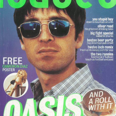 Noel Gallagher's first of three appearances on a Loaded cover