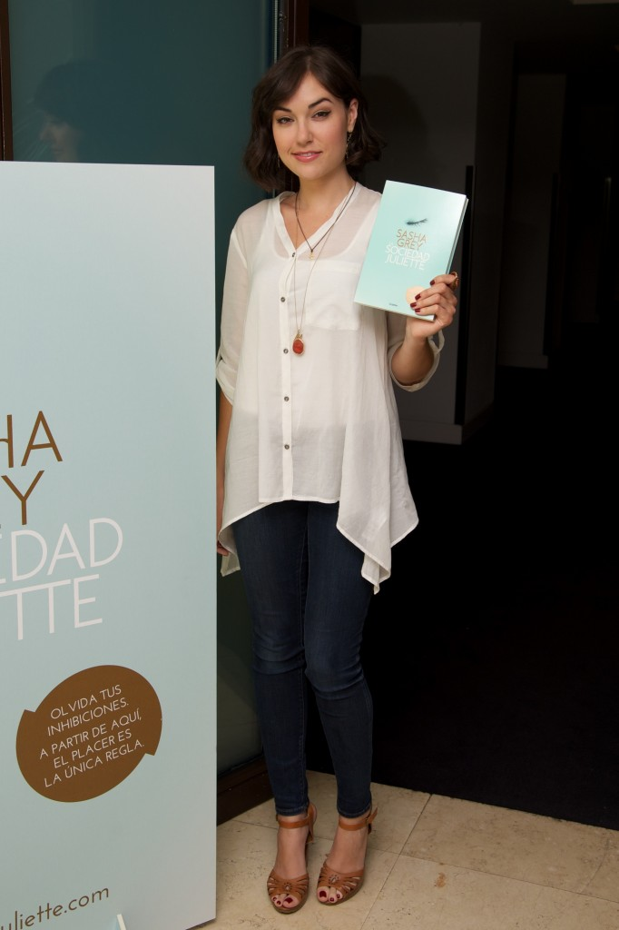 Sasha Grey at the launch of her novel The Juliette Society in Spain
