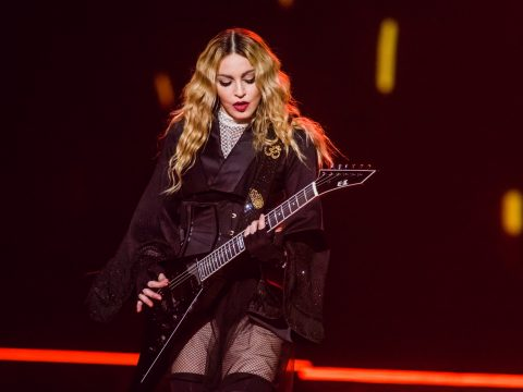 Madonna in concert on her comeback tour