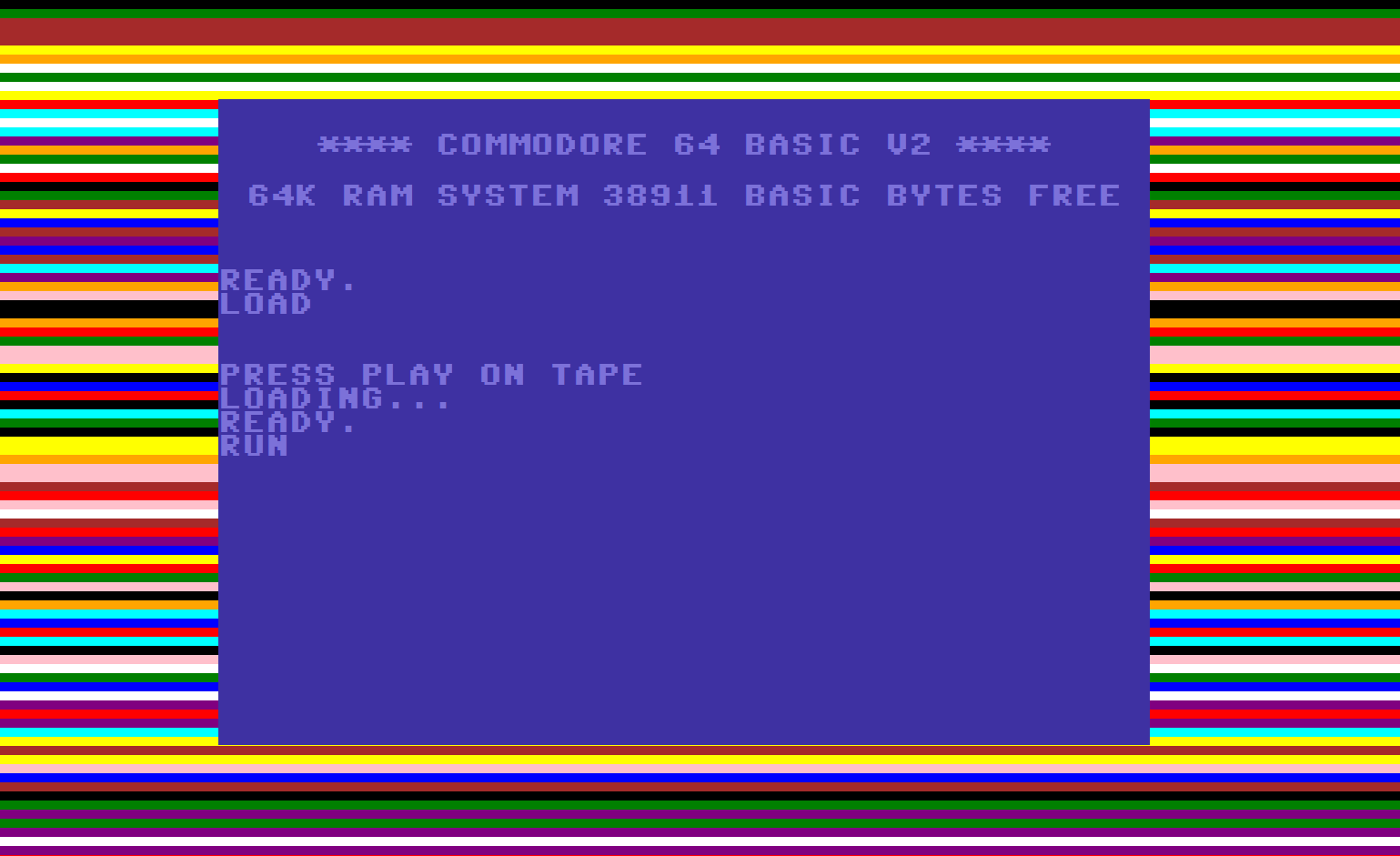 Ashens terrible old video games Commodore 64 loading page – Loaded