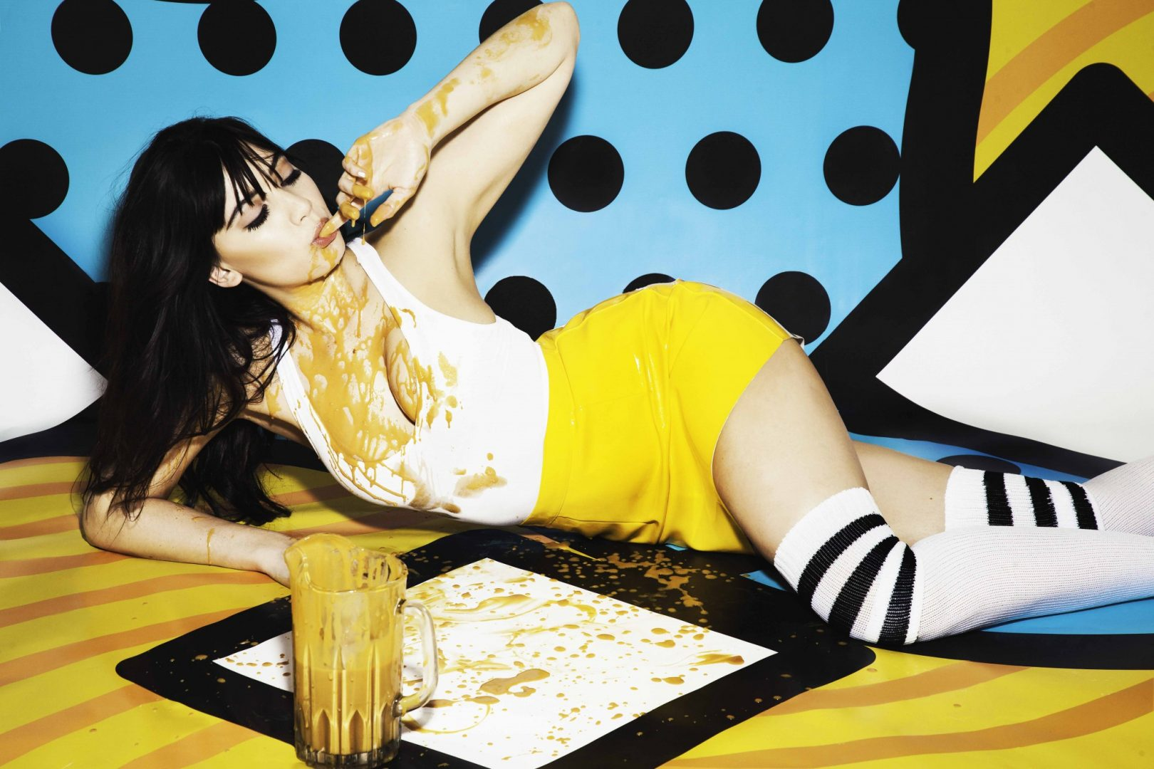 Daisy Lowe Naughty but Rice salted caramel flavour Loaded