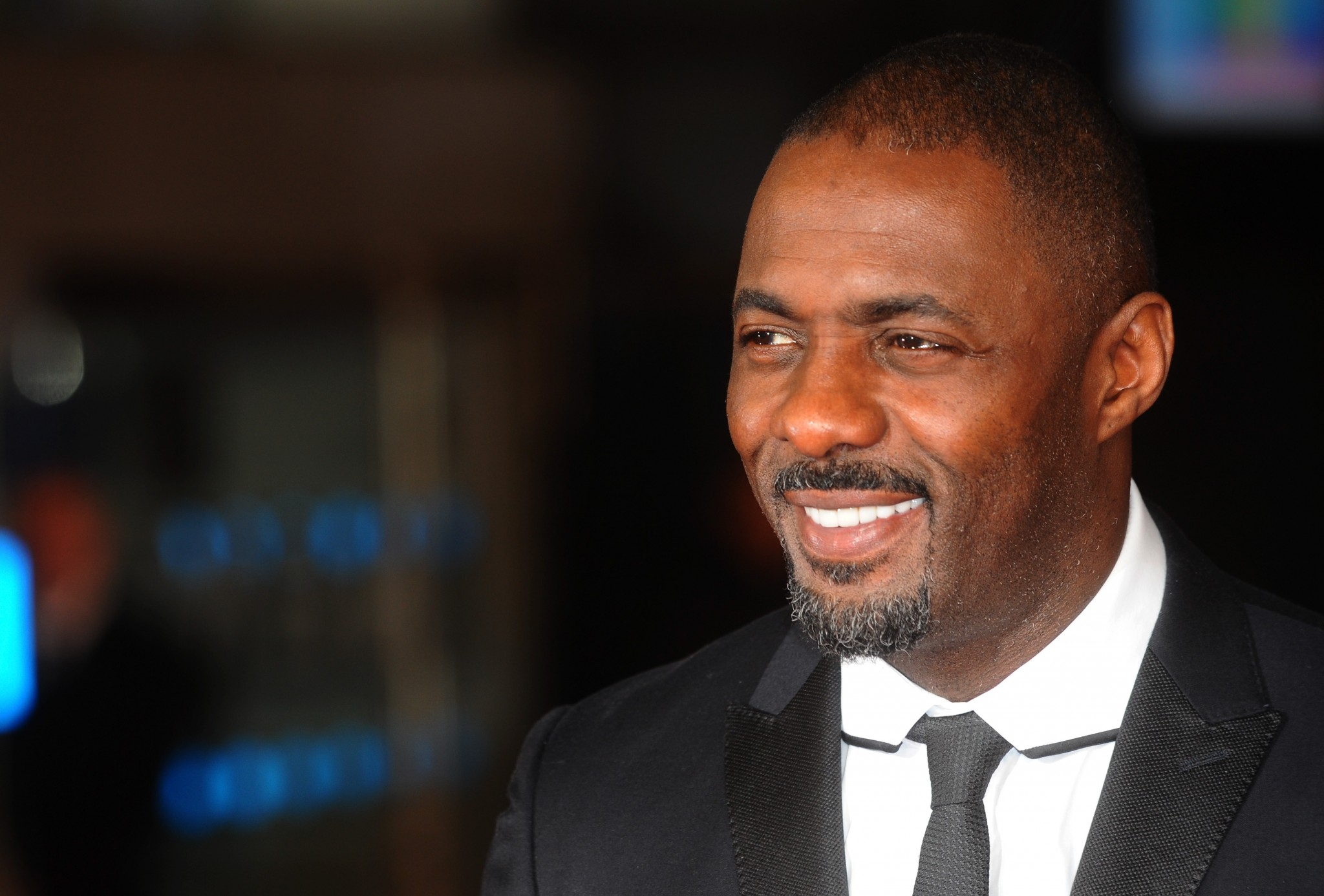 Idris Elba at the premiere for Mandela: Long Walk To Freedom