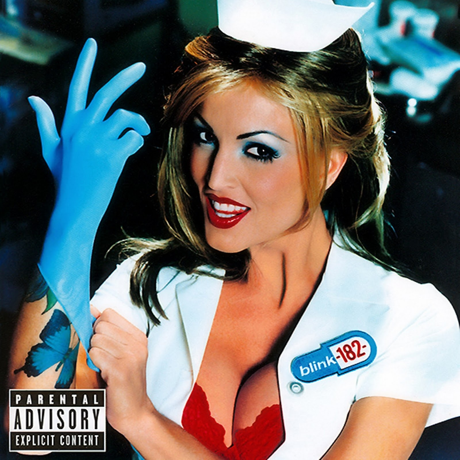 Janine on the cover for Blink-182's Enema Of The State – Loaded