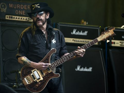 Motorhead singer Lemmy, who has died from cancer, performs at Glastonbury