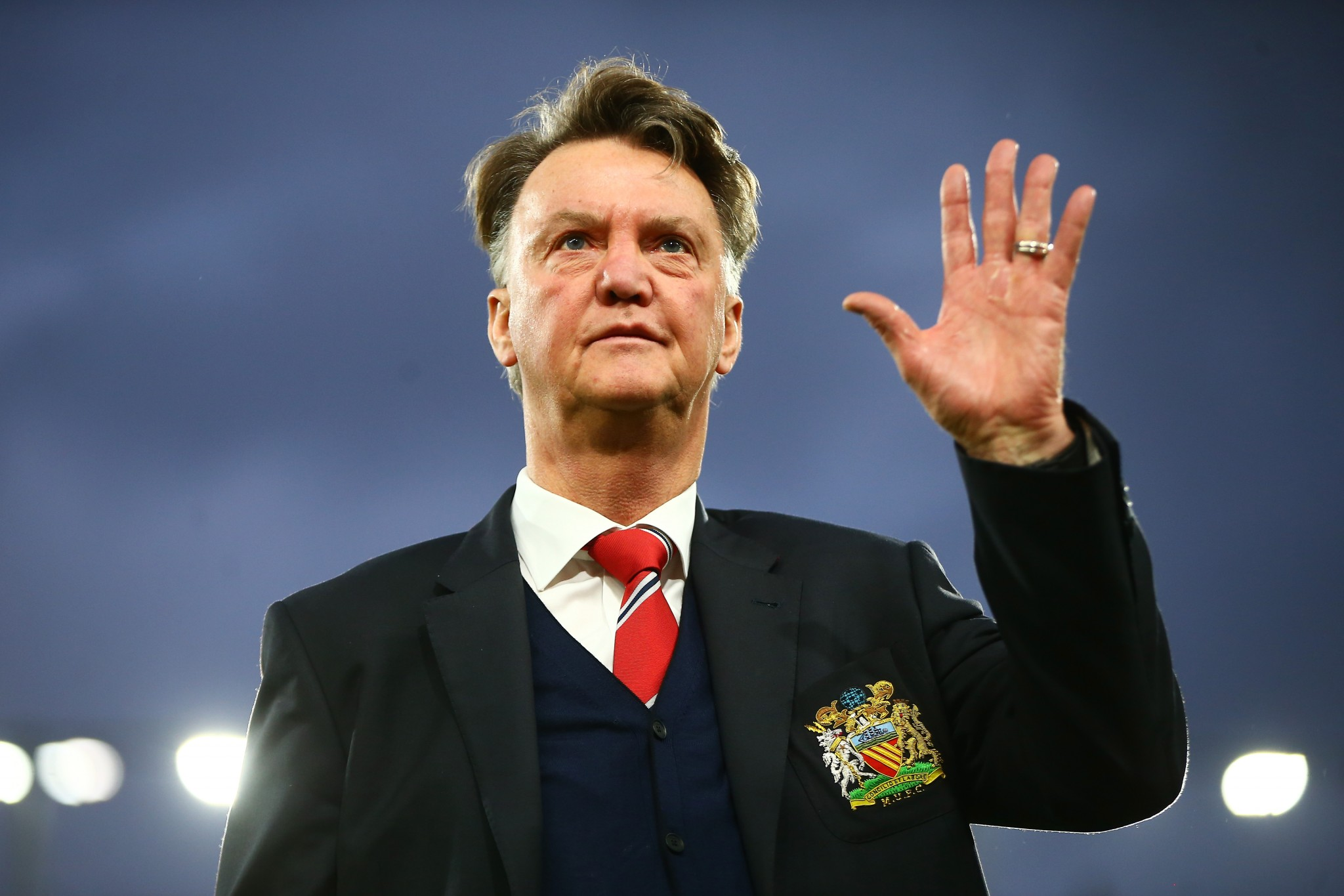 Louis van Gaal after Manchester United's game with Bournemouth