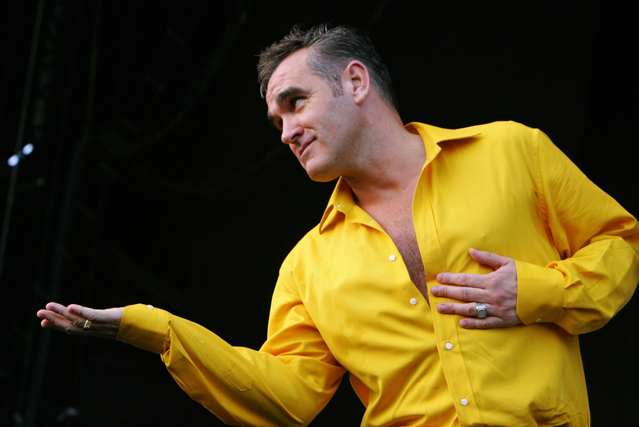 Morrissey pictured onstage has now turned to being an author