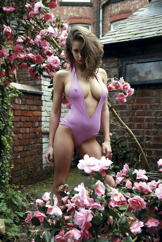 A model and some flowers in Naked Fashion Girls book