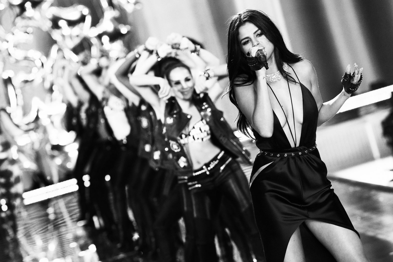 Selena Gomez on-stage at Victoria's Secret Fashion Show Loaded