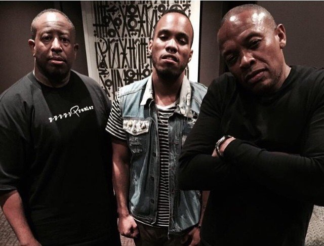 Anderson .Paak in the studio working on Dr Dre's Compton – Loaded