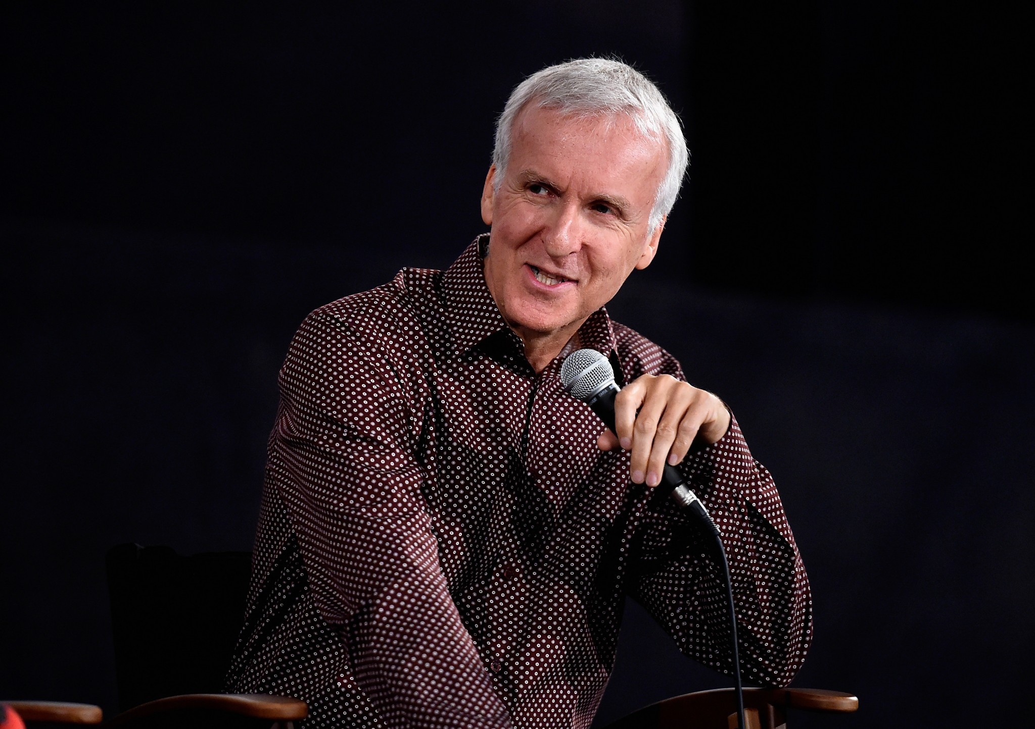 Avatar director James Cameron at a screening for Terminator