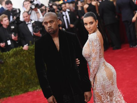 Kanye West and his wife Kim Kardashian