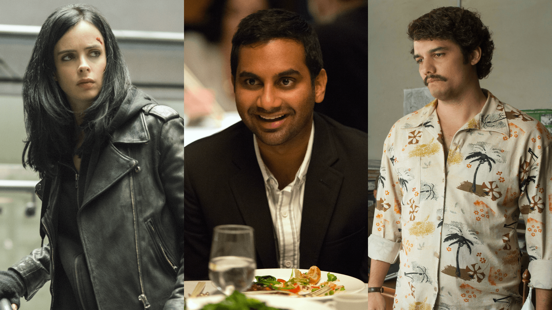 Netflix shows Marvel's Jessica Jones, Master Of None and Narcos