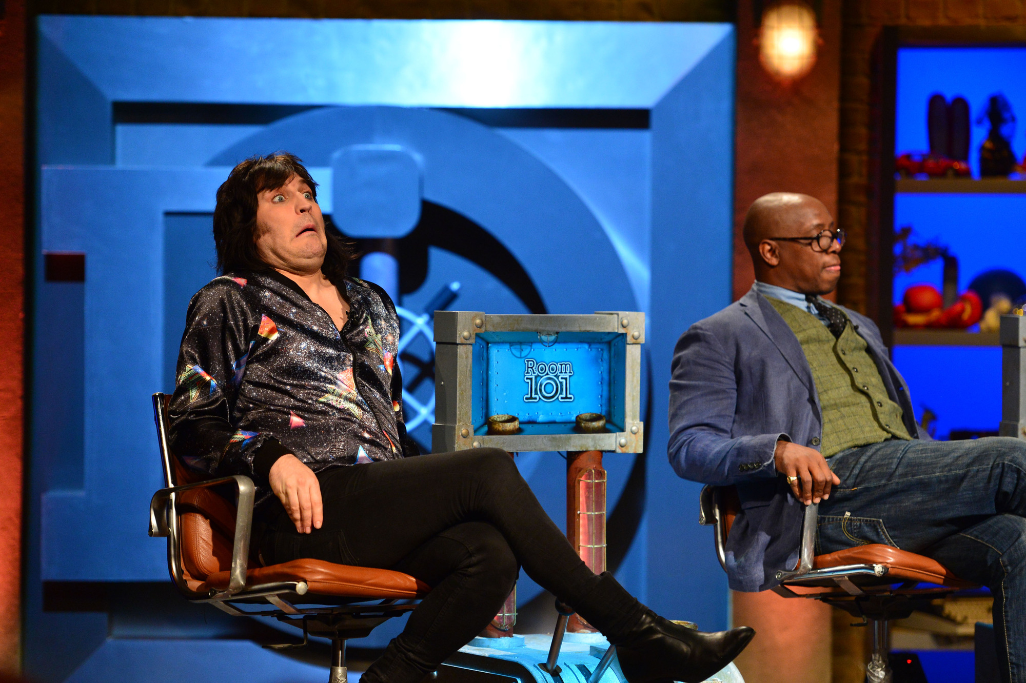 Noel Fielding and Ian Wright on Room 101