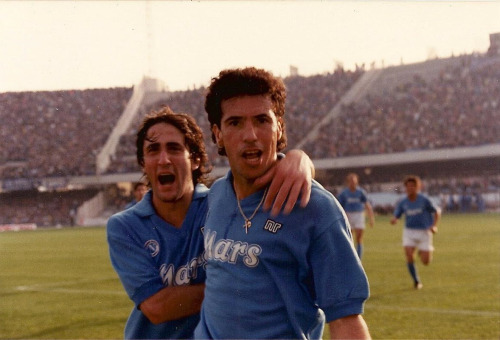 Napoli legend Careca celebrates scoring against Parma