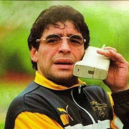 Diego Maradonna on the phone``