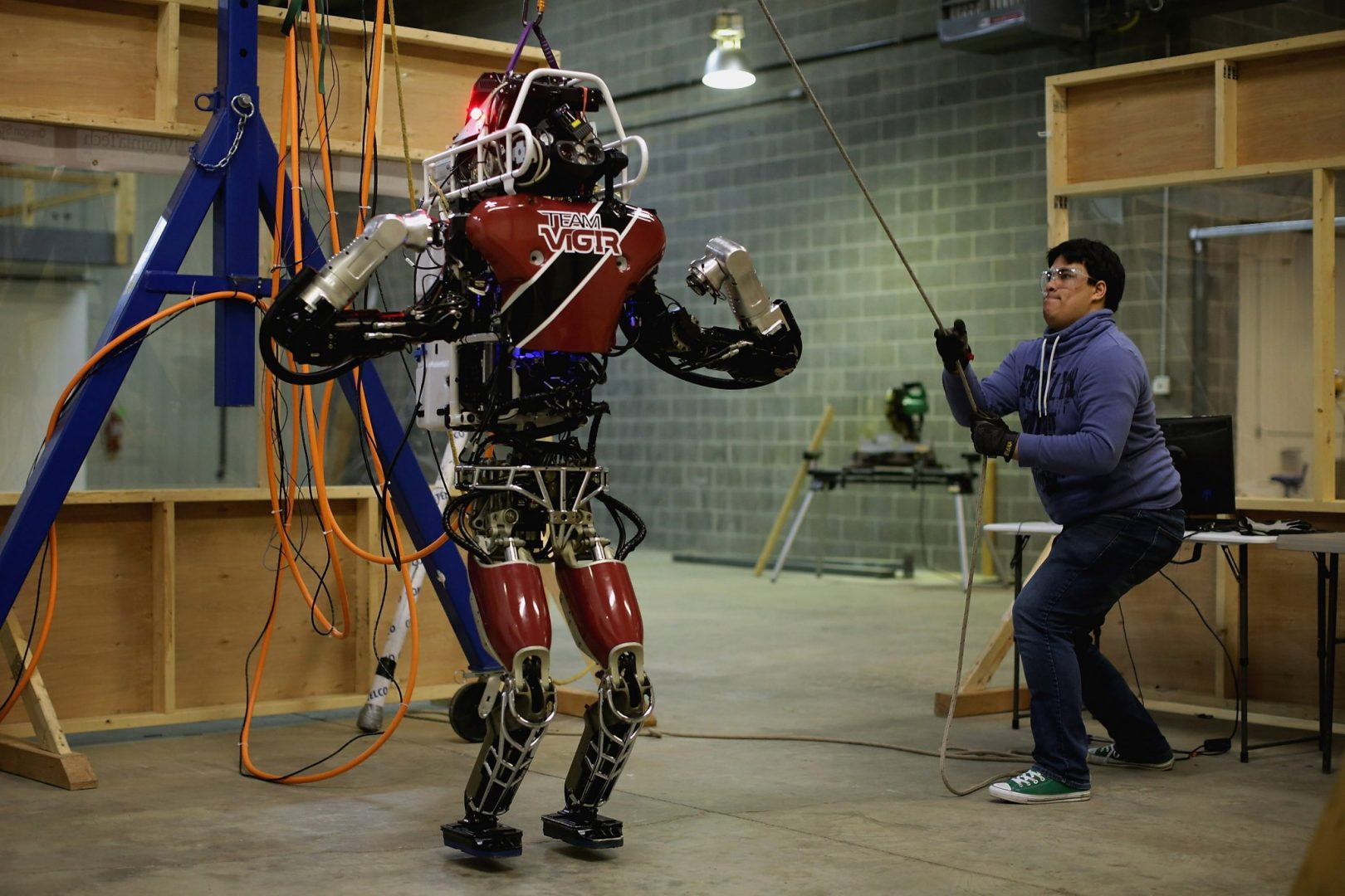 The new Atlas robot in testing.