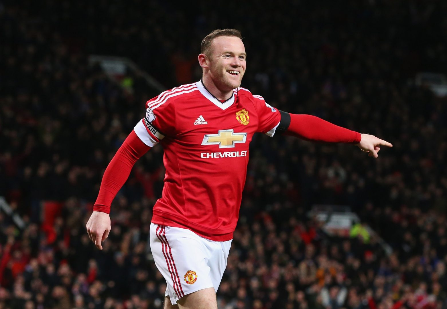 Wayne Rooney celebrates his latest goal for Manchester United.