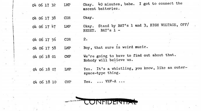 The NASA transcript from the Apollo 10 mission in May 1969 – Loaded