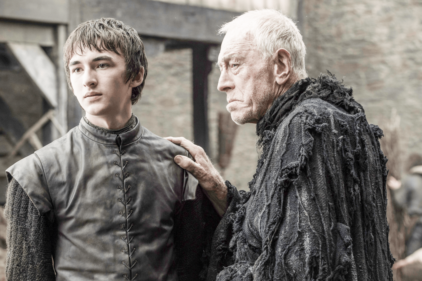 Isaac Hempstead-Wright and Max Von Sydow in Game Of Thrones season six