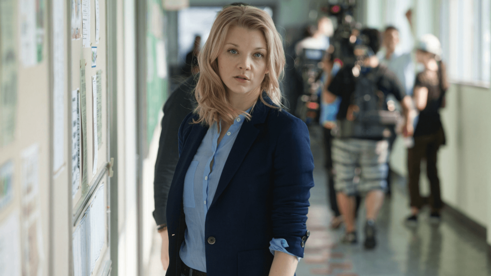 Natalie Dormer on the set of The Forest
