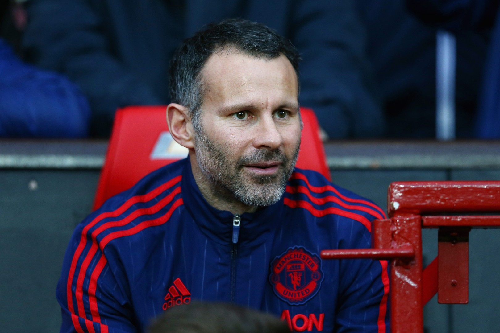 Ryan Giggs in the Manchester United dugout