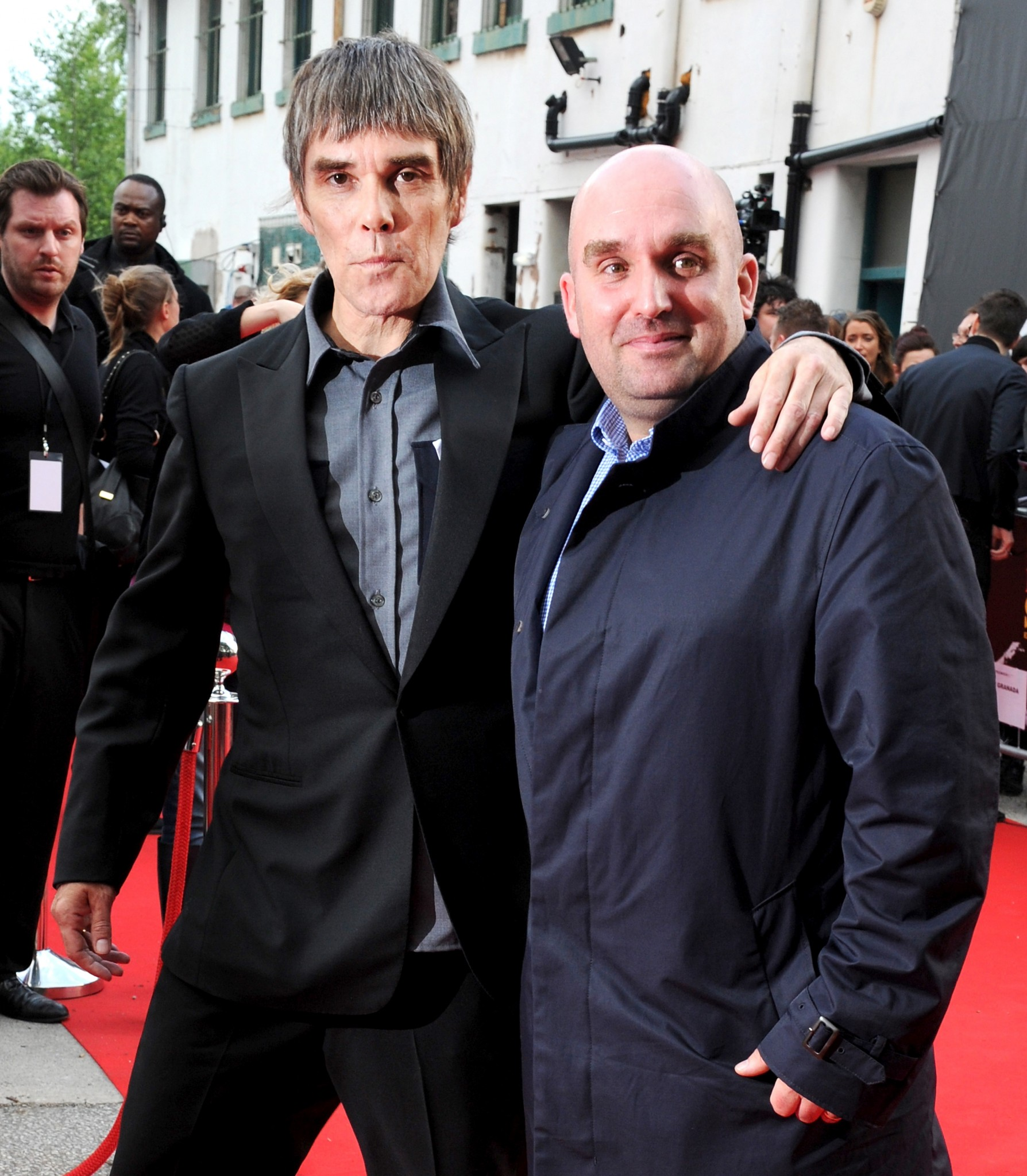 Shane Meadows with The Stone Roses singer Ian Brown