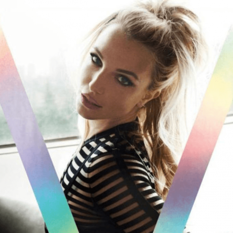 Britney Spears on the 100th V Magazine cover – Loaded