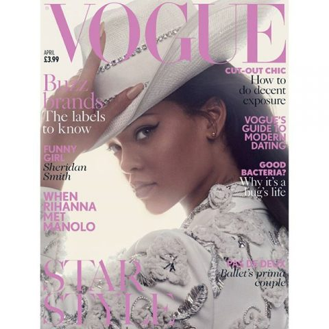 Rihanna on the cover of April's British Vogue – Loaded