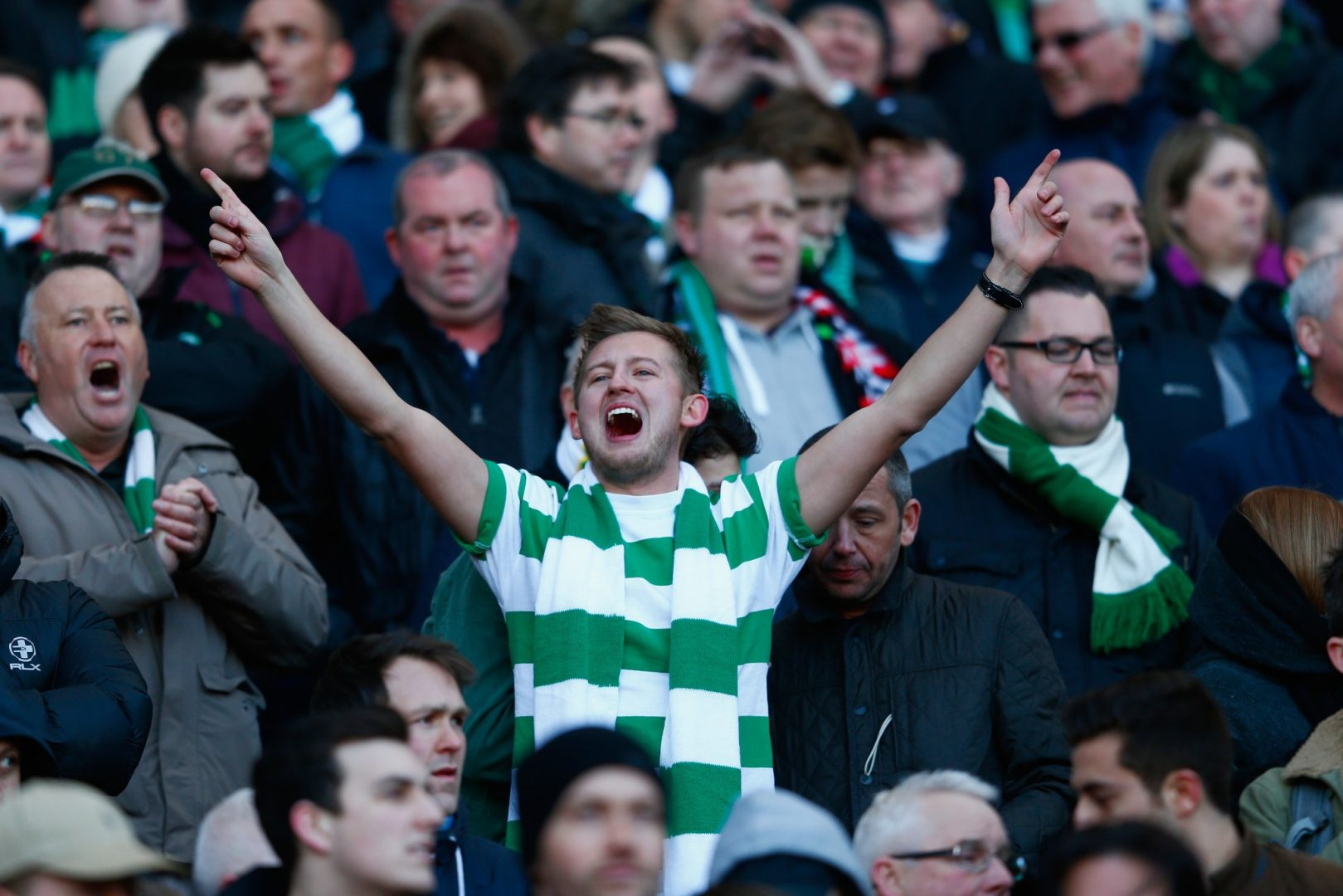 Fans at Celtic Park.