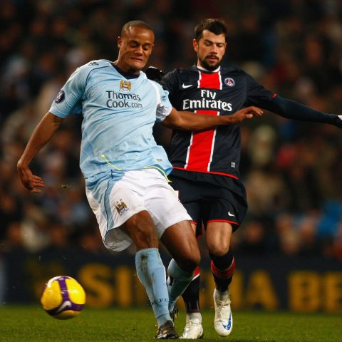 Vincent Kompany for Manchester City against PSG.